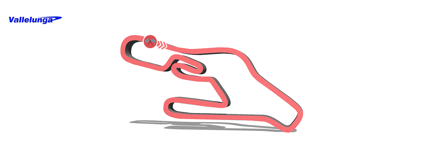 Circuito Vallelunga : Vallelunga circuit in roma drive on the track a ferrari